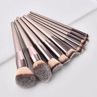 10 шт./компл. высокое качество Pro кисти для макияжа комплект Eye Shadow Eyebrown Пудра Косметика Make Up кисти с деревянными ручками инструмент