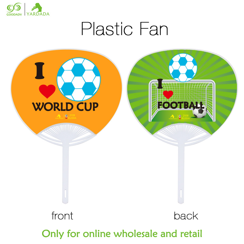 1pc footbhall soccer fans home decoration accessories handheld mini desk table fan red hand fans