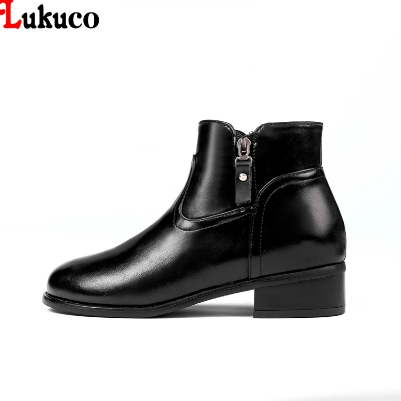 Lukuco 2018 Ankle Boots Plush Warm Winter Boots Large Size 40 41 42 43 44 45 46 Custom Handmade Botas Free Shipping Woman Shoes 2019 lukuco winter warm plush women boots oversize 38 39 40 41 42 43 44 45 46 high quality botas custom handmade pu lady shoes