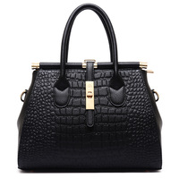 Fashion Famous Brand Luxury Designer Women Bag Female Crocodile Pattern Pu Leather High Quality Handbag European