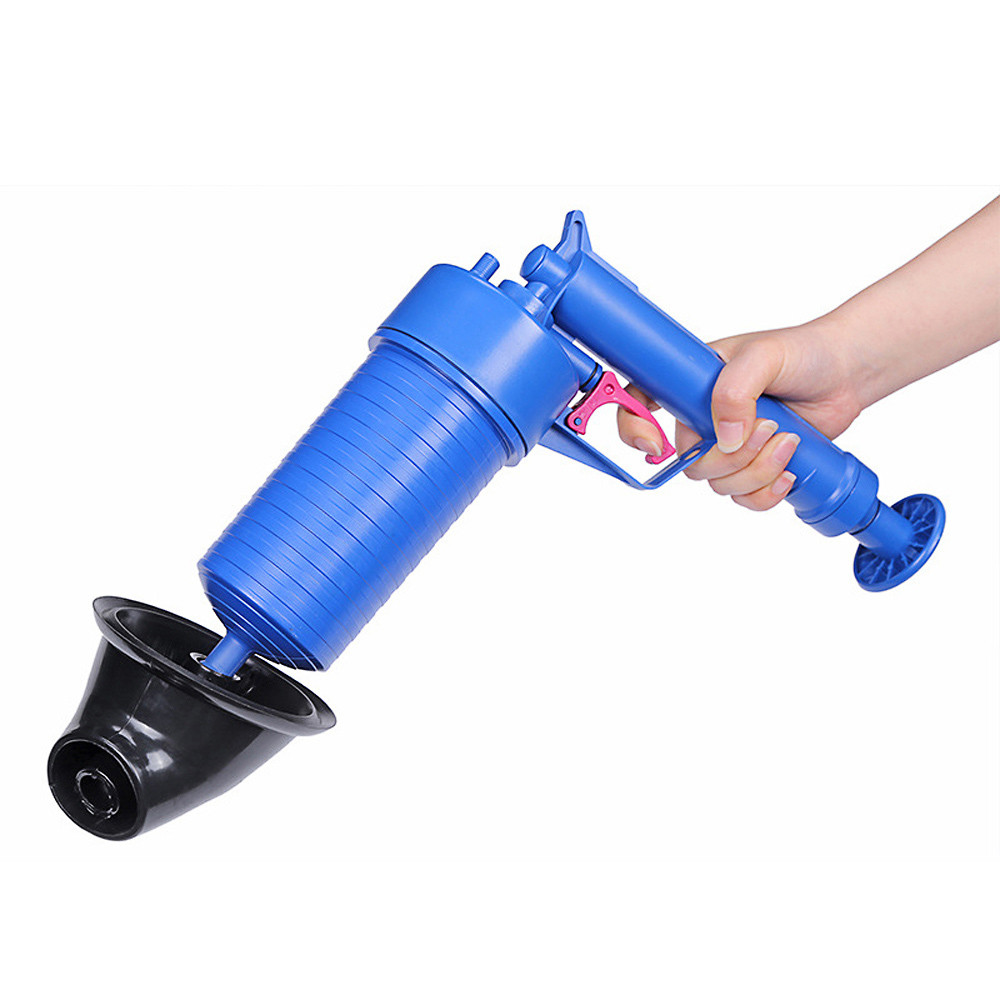 Pressure Pump Cleaner Unclogs Toilet Hand Powered Plunger