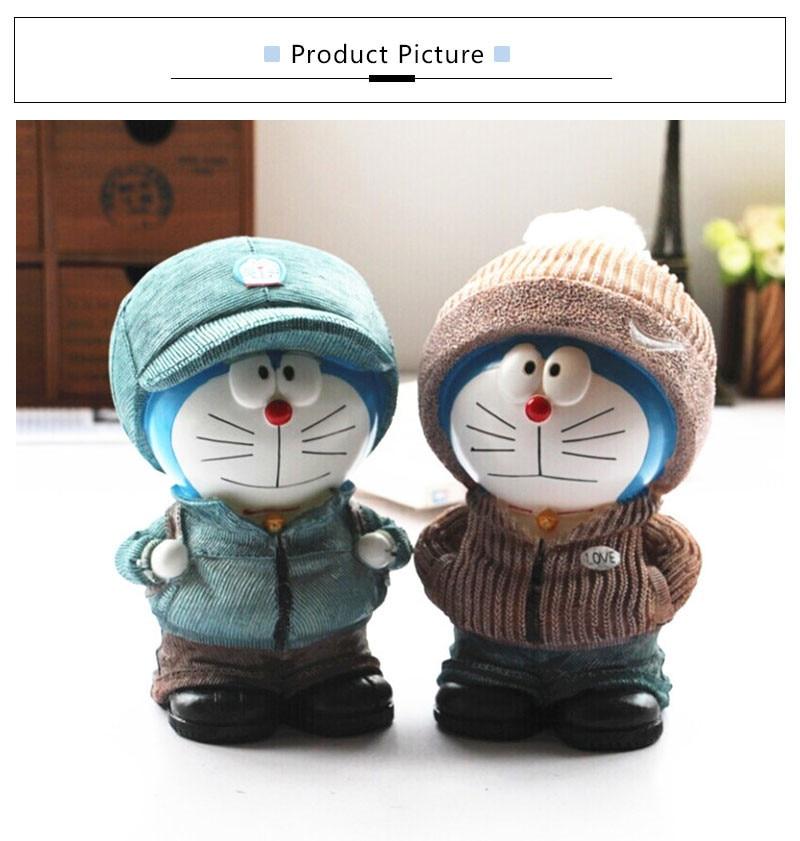 Doraemon Money Box Cartoon Jingle Cats Piggy Bank Resin Coin Bank Creative Safe Money Box Cash Piggy Bank Kids