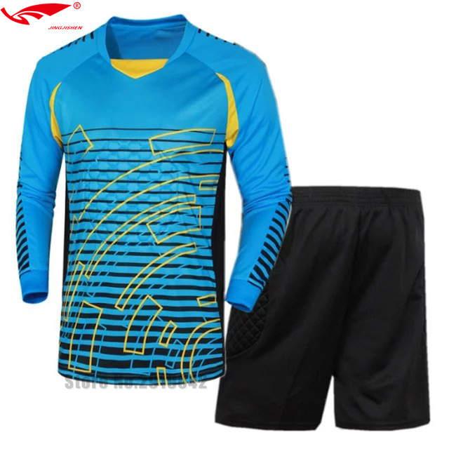 636a255a82d placeholder survetement football Shirts Goalkeeper clothing Men s  Goalkeeper Soccer Jerseys Set Football Suit Adult Goalie Keeper Long