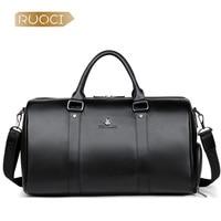 RUOCI 100% натуральная кожа Для мужчин дорожные сумки Overnight Duffel Bag выходные путешествия большой Бизнес сумки Crossbody дорожные сумки