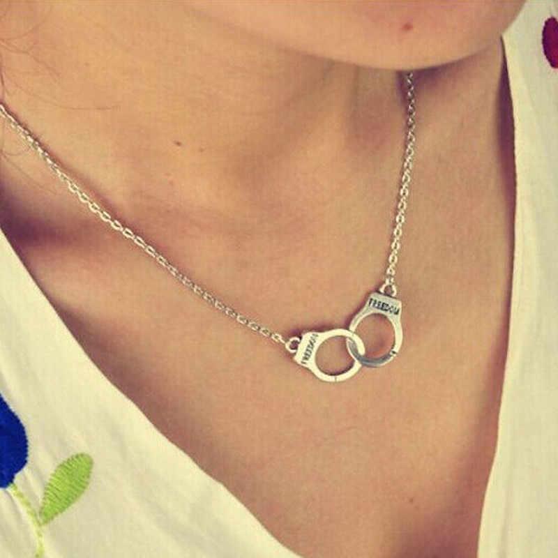 """NC2039 подвеска """"наручники"""", ожерелье для женщин и мужчин, стимпанк, модное ювелирное изделие, ожерелье для влюбленных, подарок на день Святого Валентина, хит 2018"""