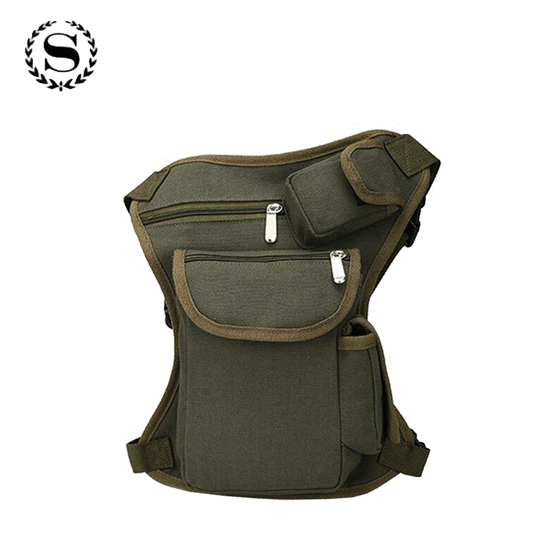 High Quality Men Canvas Drop Waist Leg Bags Thigh Pack Waist Bags Unisex Travel Thigh Bucket Bags ZZ347