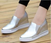 2017 nueva moda femenina zapatos casuales zapatos planos cómodos zapatos de cuero respirables