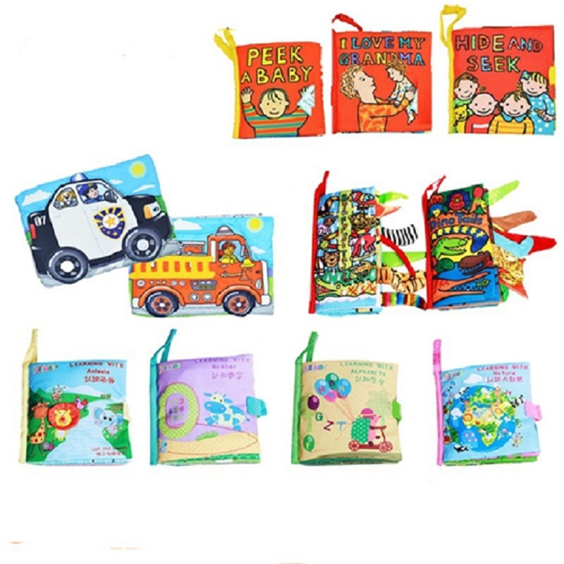 style baby toys hot new infant kids early development cloth books learning education unfolding activity books