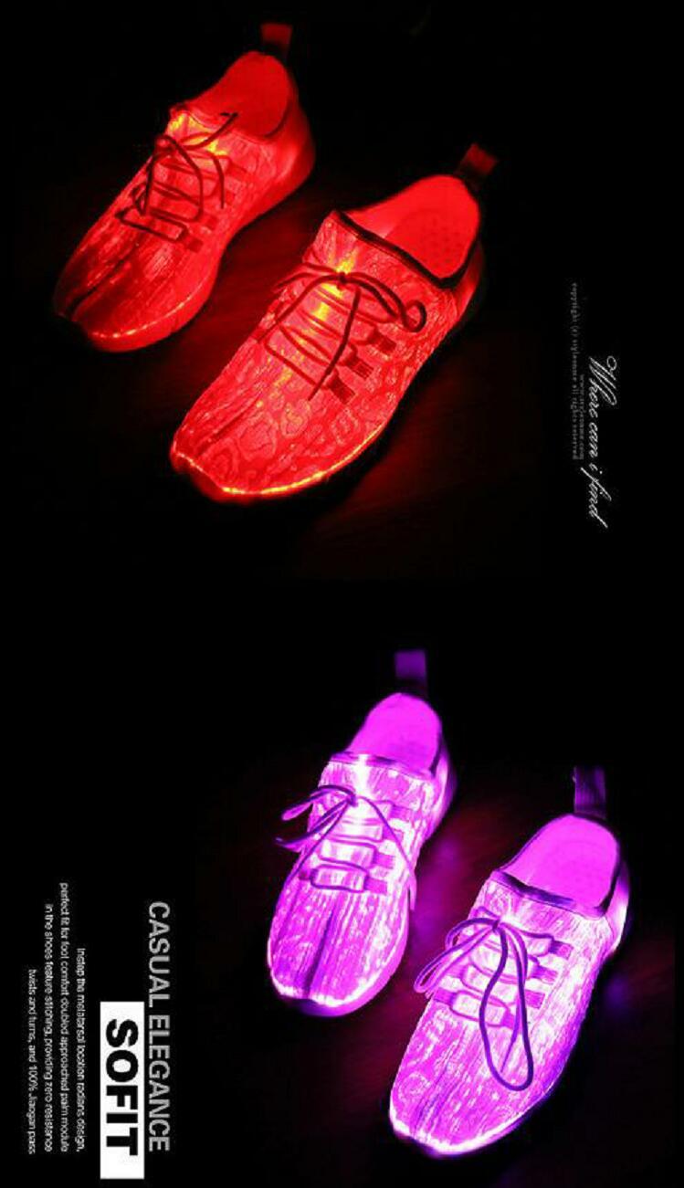 Unclejerry tamanho 25-47 novo verão led sapatos