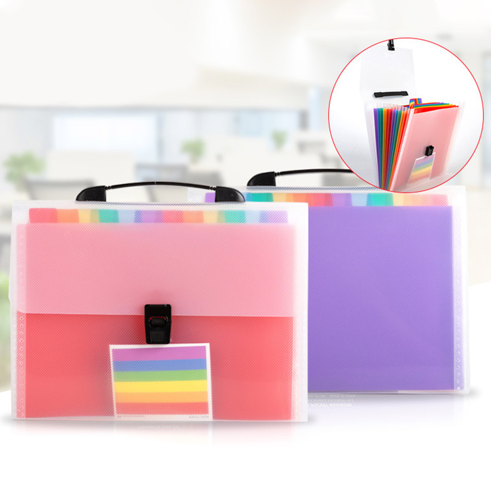 Mini Bill Receipt File Bag 13 Grids A6 Document Bag Pouch Folder Organizer File Holder High Quality