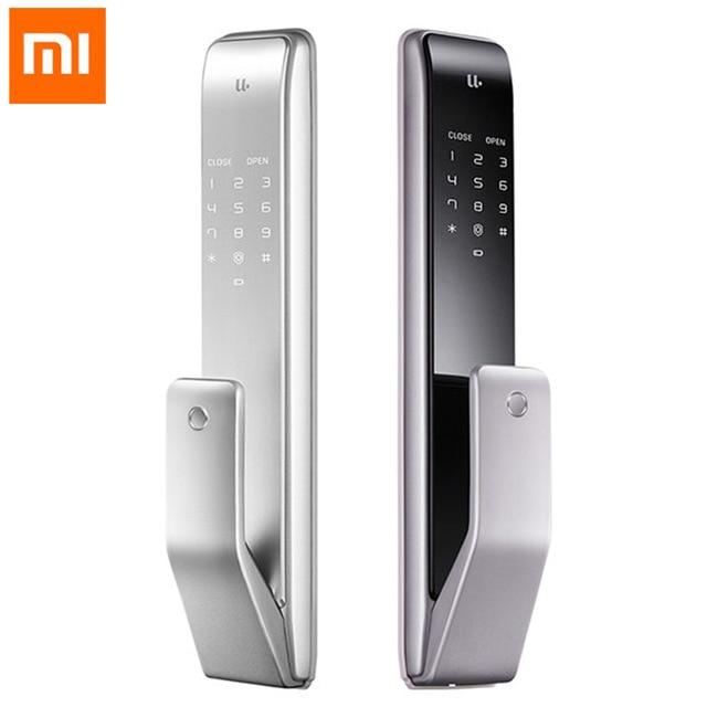 Xiaomi Youpin M2 automatique empreinte digitale serrure coulissante intelligente serrure coulissante automatique push-pull télécommande intelligente pour Mijia APP #3