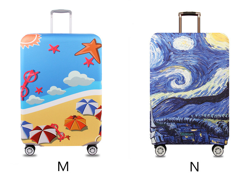 Thicker Travel Luggage Protective Cover Suitcase Case Travel Accessories Elastic Luggage Dust Cover Apply to 18''-32'' Suitcase 12