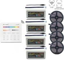 Bande lumineuse RGBW ww Led, avec télécommande, 5/10/15/20m 5050, 12v dc, Mi.ight, 2.4G, RGBW Led de contrôle + B4, montage mural, panneau d'éclairage