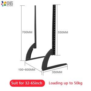 Универсальная Подставка для телевизора с регулируемой высотой 32-65 дюймов, легированная + стальная плазменная ЖК-панель с плоским экраном, настольная подставка, простая установка