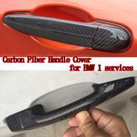 High quality carbon fiber material Plated Door Handle Car Sticker For BMW E82 E87 F20 F21 118i 120i 125i M135i 116i 2007 2016