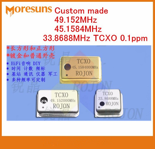 Fast Free Ship 3pcs/lot 49.152MHz 45.1584MHz 33.8688MHz TCXO 0.1ppm temperature-compensation crystal oscillator