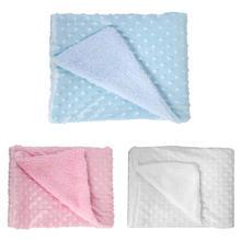 Baby Tæppe Nyfødt Varm Berber Fleece Tæppe Swaddle Wrap Spædbarn Barnevogn Quilt Swaddling Bedding Cover
