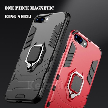 Luxury Armor Phone Case For iPhone 8 7 6 6S Plus 5 SE 5s Shockproof Cover For iPhone X XS Max XR Magnetic Car Holder Cases image