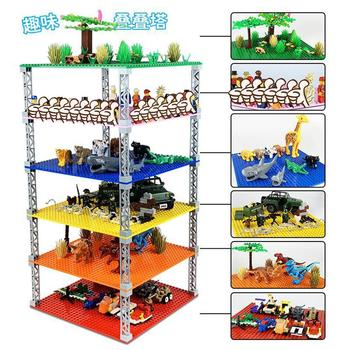 Double-sided Base Plates Plastic Small Bricks Baseplates Compatible classic dimensions Building Blocks Construction Toys 32*32 4