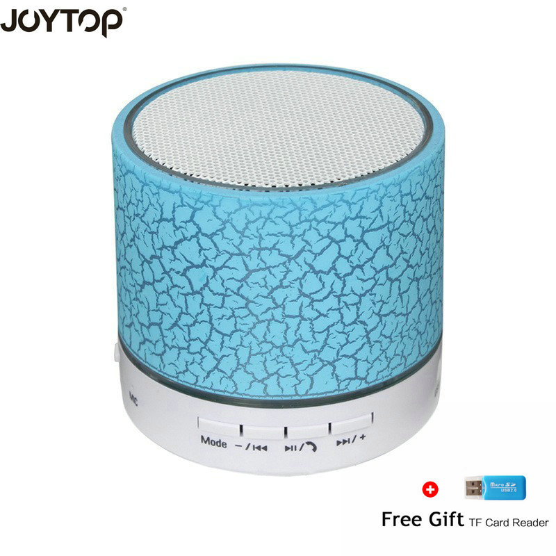 JOYTOP Wireless Led Portable Bluetooth Speaker Mini Hand-free Caixa de som With Mic TF USB FM For Phone Speakers Computer