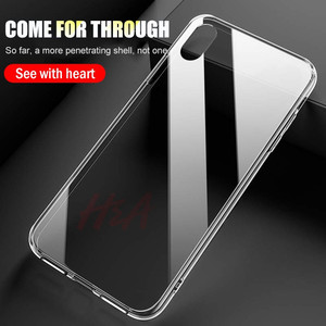 Image 4 - H & A 高級 Iphone XS 最大 XR × ケース超薄型透明な背面ガラスカバーケース iphone XS 最大クリア Coque