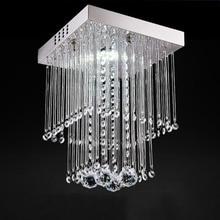 Современный светодиодный светильник-Хрустальная люстра, подвесной светильник, потолочные светильники для гостиной