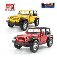 Mz 1:32 simulazione della lega modello di auto materiale metallico suv wrangler aprire la porta tirare indietro i bambini toys