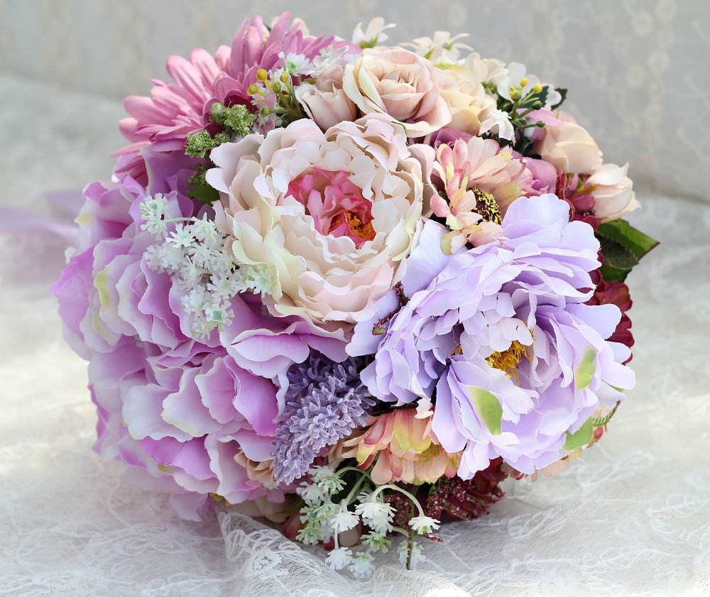 Wedding Flowers Lilac: Popular Lilac Bouquet-Buy Cheap Lilac Bouquet Lots From
