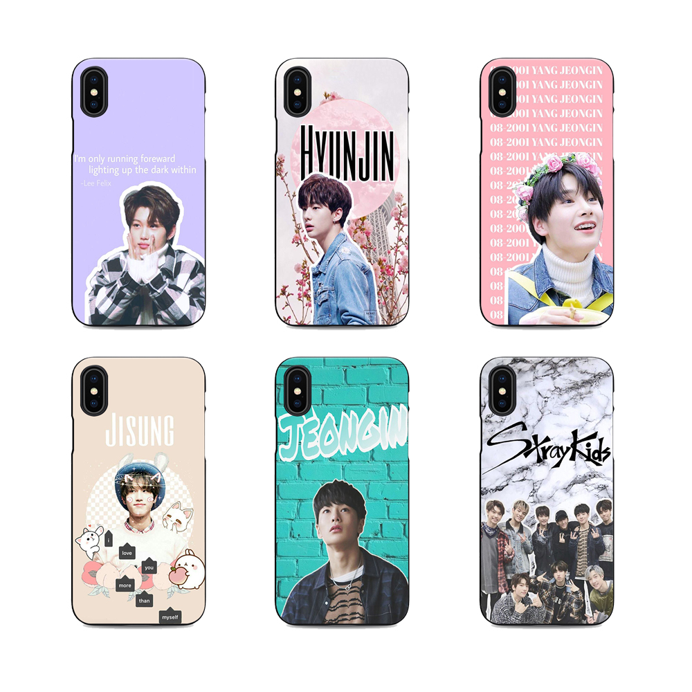 US $1 59 36% OFF|felix stray kids hyunjin chan woojin soft Silicone black  cover phone case for iPhone XS 6 7 8 plus 5 5s 6s se for Apple X bag-in