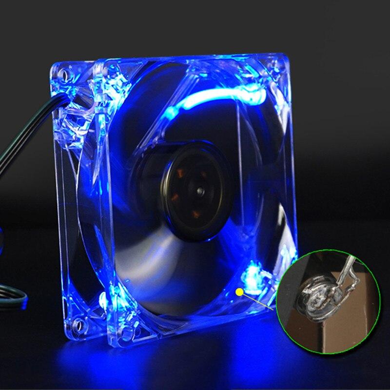 Centechia Hot-sale 120*120mm Gifts Blue Quad 4-LED Light Neon Clear 120mm PC Computer Case Cooling Fan Mod 4 Pin hot sale binmer 120 x 120 x 25mm 4 pin computer fan red quad 4 led light neon clear 120mm pc computer case cooling fan mod