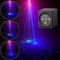 Мини портативный лазерный 8 RGB узоров беспроводной лазерный проектор перезаряжаемый сценический светильник диско DJ бар клуб вечерние Рожде...