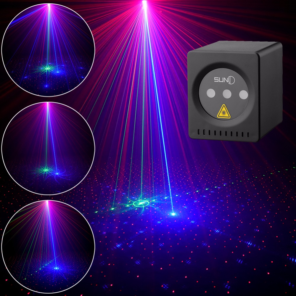 Mini Portable Laser 8 RGB Patterns Cordless Laser Projector Rechargeable Stage Light Disco DJ Bar Club Party Xmas Laser Show