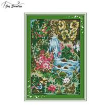 Joy Sunday Stream Chinese Cross Stitch Kits Landscape Aida Fabric Printed Canvas 14ct 11ct DMC DIY Embroidery Kit Needlework Set