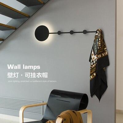 Luz Da Parede Luz Do Quarto Lâmpada de Parede moderna para Casa Pendurado Decoração Interior Luminária Design Criativo Suporte de Suspensão - 4