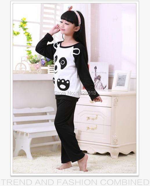 8e0e819e5b Autumn   Spring kid s pyjamas sets Printed cute panda sleepwear Girls  tracksuit casual nightwear clothing sets Free shipping
