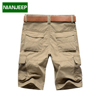 Brand Men S Shorts NianJeep Plus Size 44 100 Cotton 2015 Cool Summer Casual Male