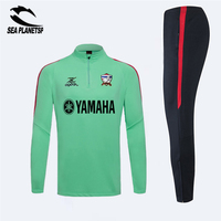 SEA PLANETSP 2016 Green Maillots Cadenza Soccer Tracksuit Training Suit 2017 Survetement Football Tracksuit Jogging Skinny