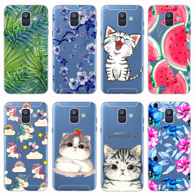 quality design 0380c 871ae US $1.7 10% OFF|Aliexpress.com : Buy For Samsung Galaxy A6 Plus 2018 Case  Cover Soft Silicone TPU Cover Back Protective Phone Case For Samsung A6 A6+  ...