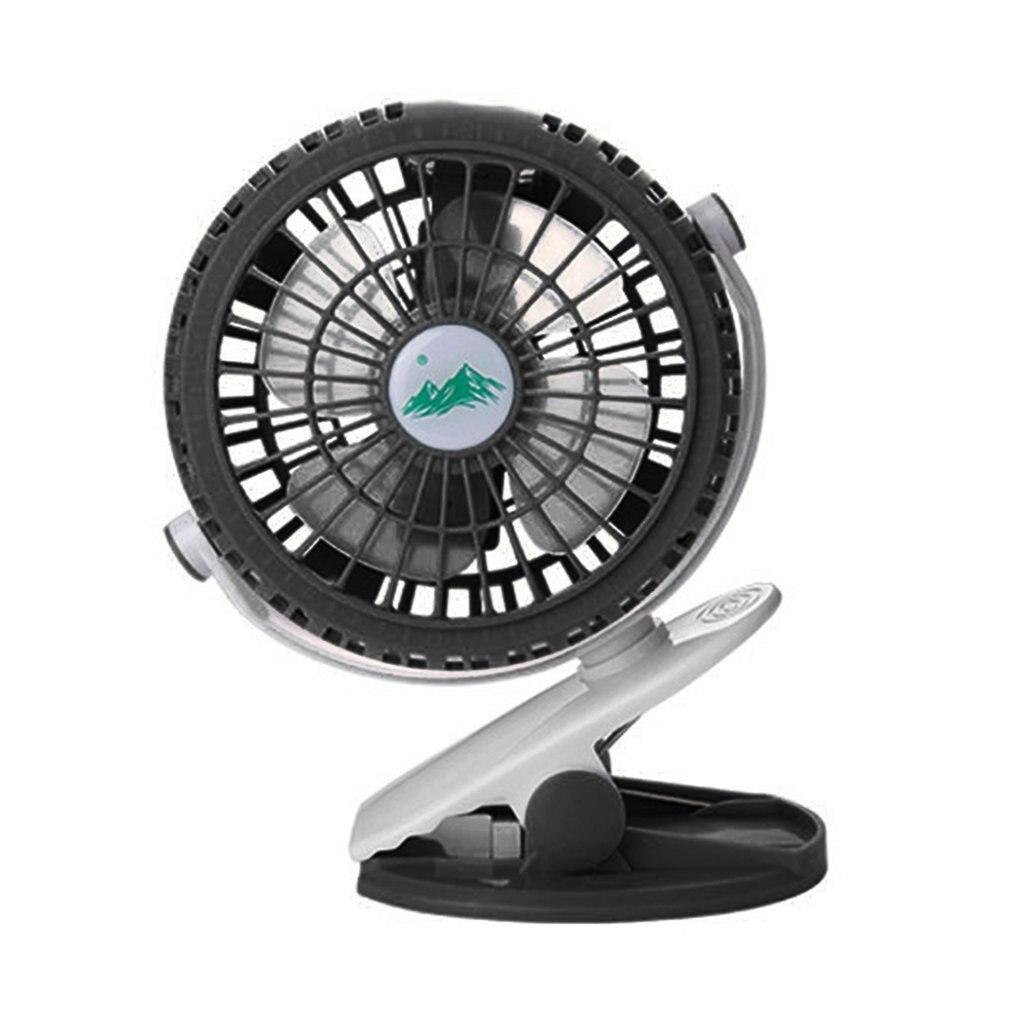 Mini Portable Fan 360 Rotation 3 Adjustable Speeds Clip Fan USB Rechargeable Desk Cooling Fan For Home Office