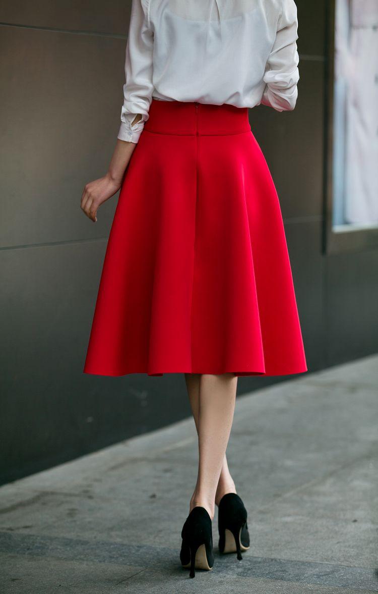 HTB1GYK8PVXXXXbIaXXXq6xXFXXXb - High Waisted Skirts Womens White Knee Length Bottoms Pleated Skirt  JKP009