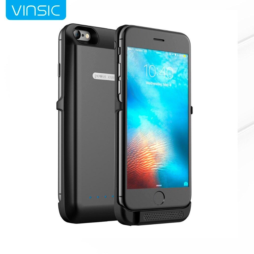 imágenes para Vinsic 6000 mah caso de la energía de batería de reserva externa caso de carga para iphone 6 iphone 6s