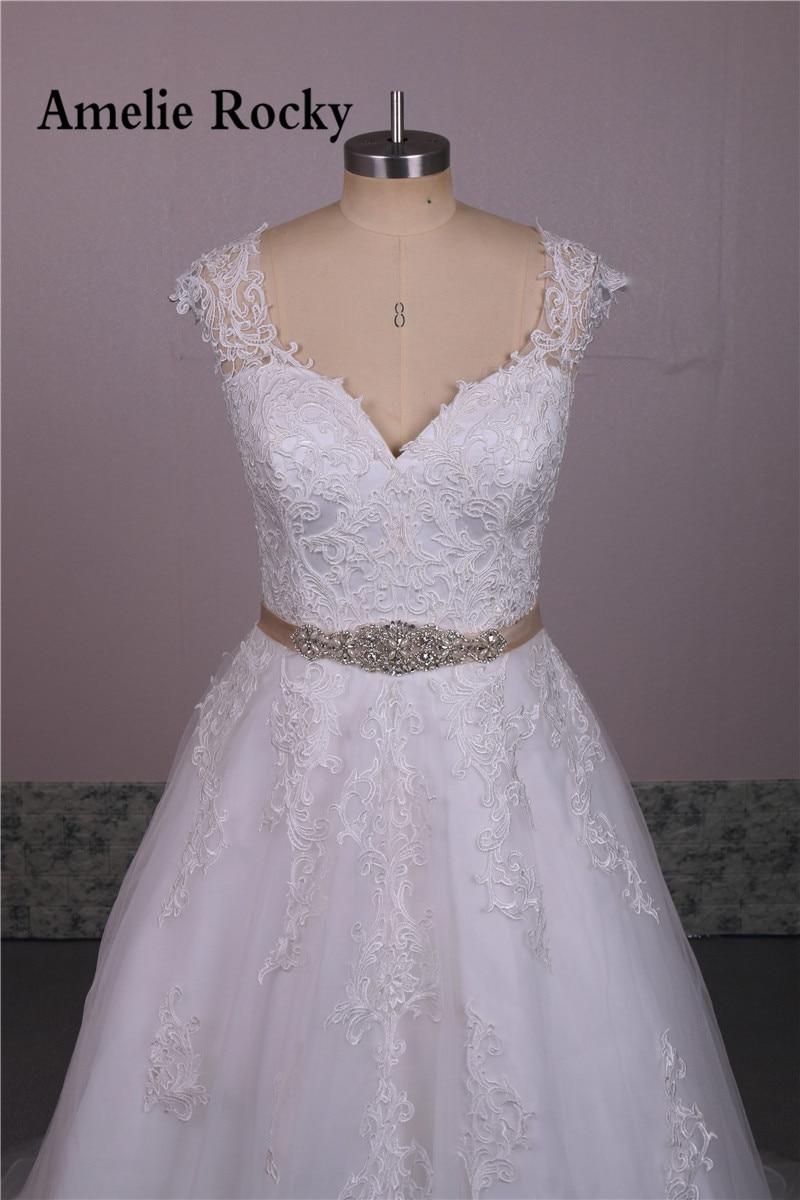 New Design Cheap beautiful Women Lace Wedding Dress 2017 See Through ...