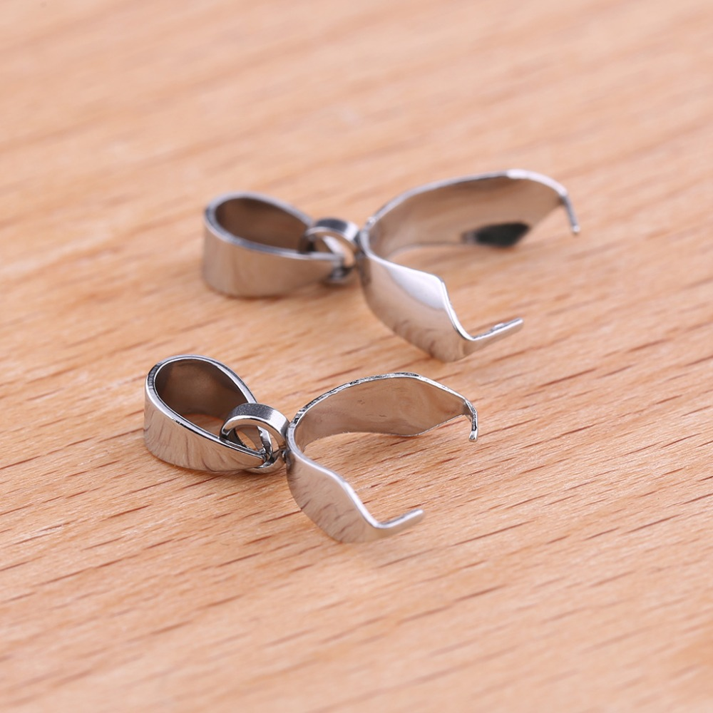 10pcs 12mm silver plated pinch bails clasps pendant copper jewellery findings