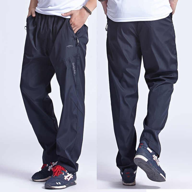 Новые быстросохнущие дышащие спортивные штаны, Мужские штаны с эластичной резинкой на талии, Мужские штаны для активного отдыха, спортивная одежда, большие размеры 3XL, PA095