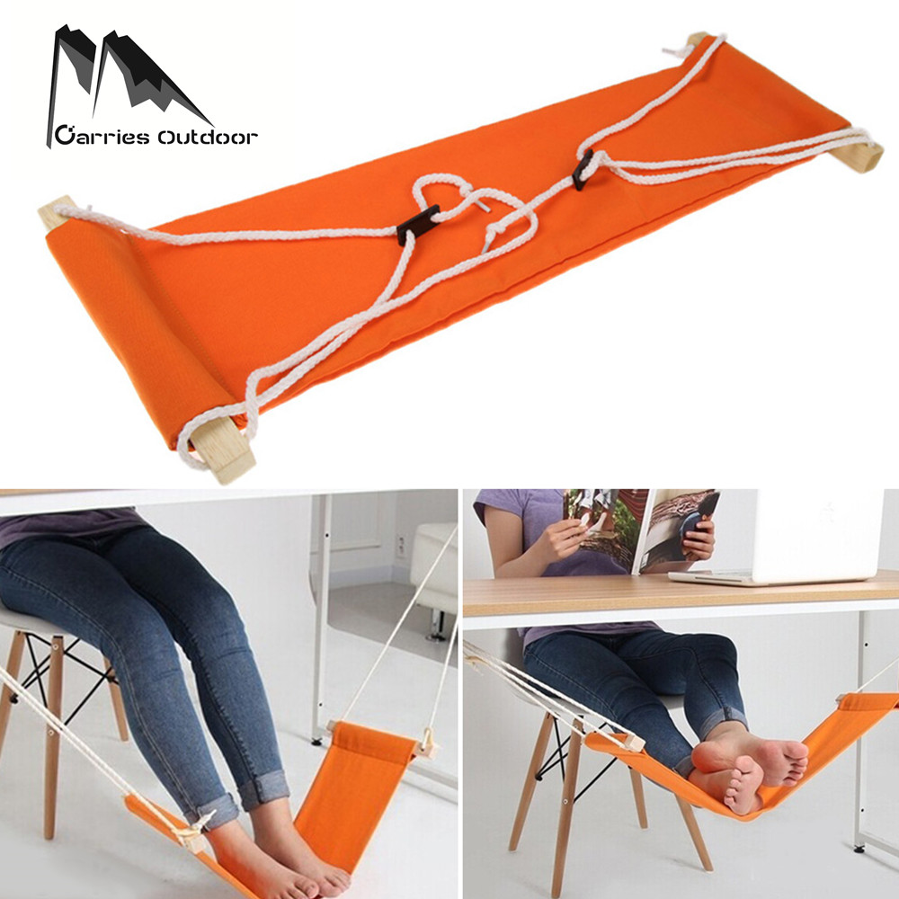 ARRIES Portable Adjustable Feet Hammock Foot Rest Hanging Chair Office Care Tool Desk Pedal