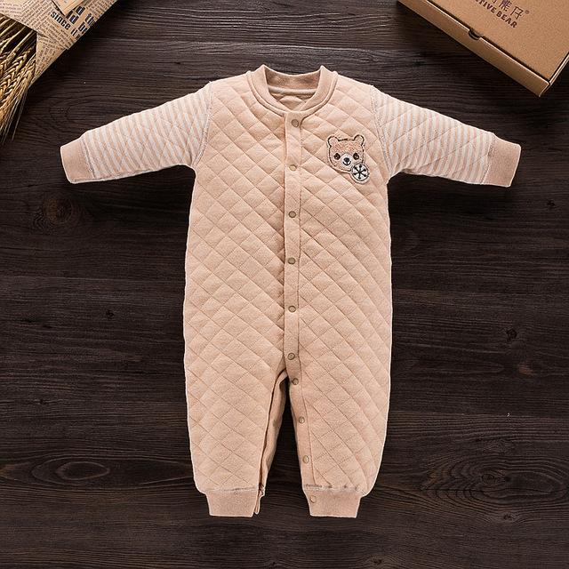 Mamelucos del bebé de Invierno Ropa de Bebé de Algodón Orgánico Mono de Otoño Ropa de Bebé Recién Nacido Ropa de Algodón de Los Mamelucos Del Bebé
