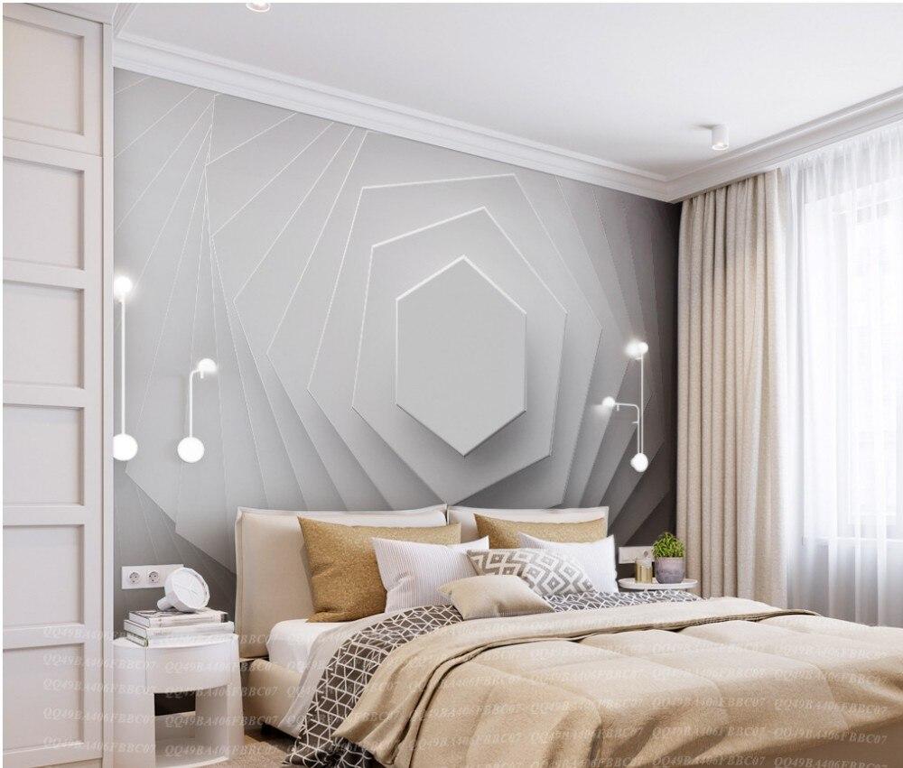 Free Shipping Custom 3D New Design Wallpaper Abstract Geometric Wallpaper Mural Decoration Elegant Premium Wallpaper for Bedroom geometric metallic wallpaper 3d abstract