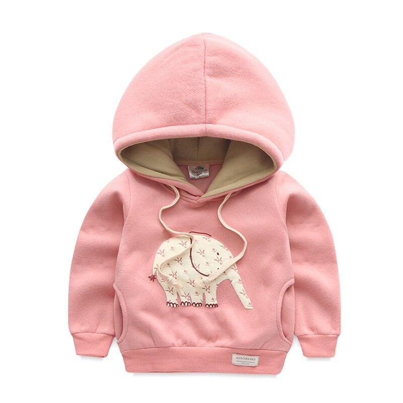 Baby boy girl elephant Hoodies sweatshirt 2017 autumn Kids Sports Tops Clothes Kids Girl's Outerwear Clothing