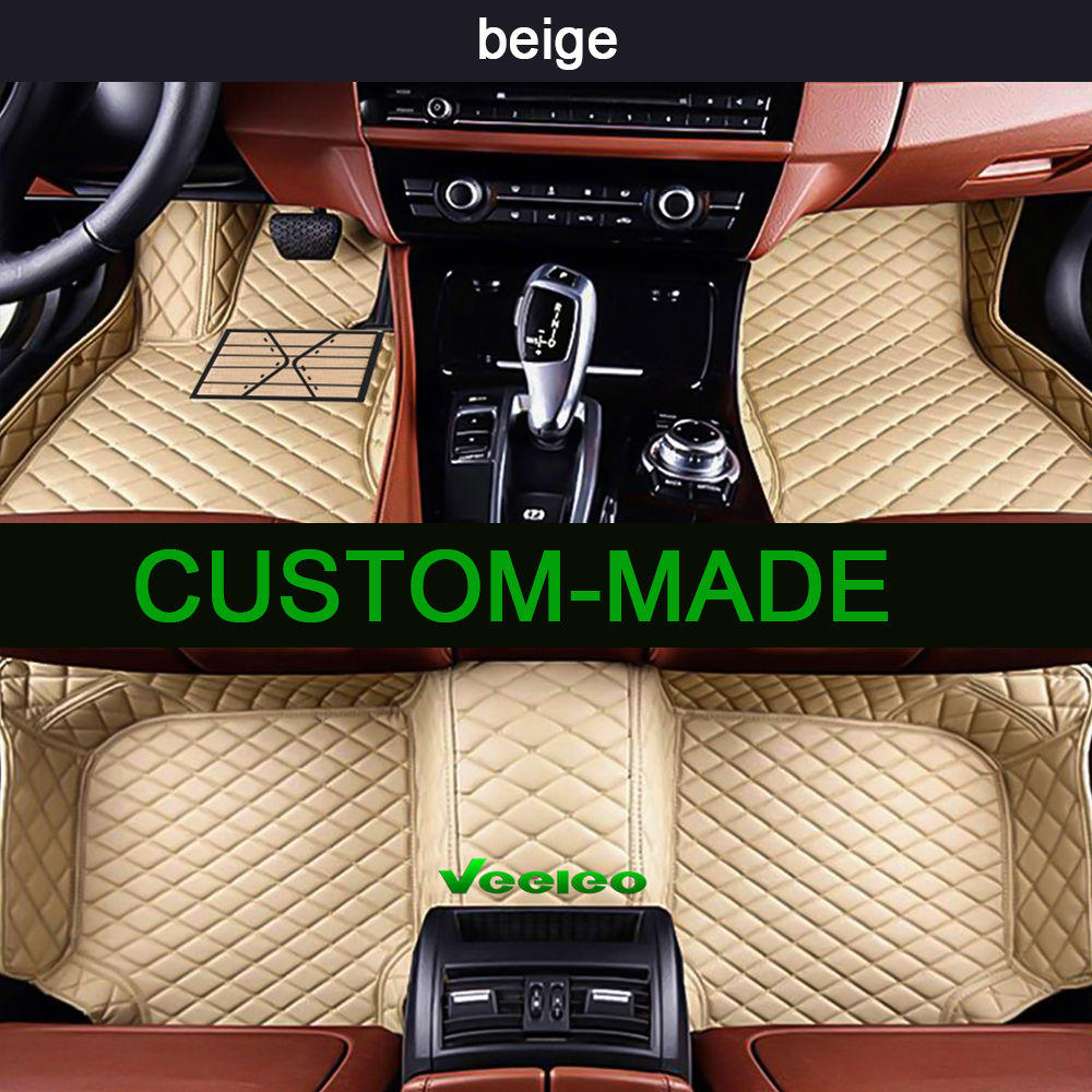 Veeleo 6 Colors Leather Car Floor Mats For Toyota Tundra