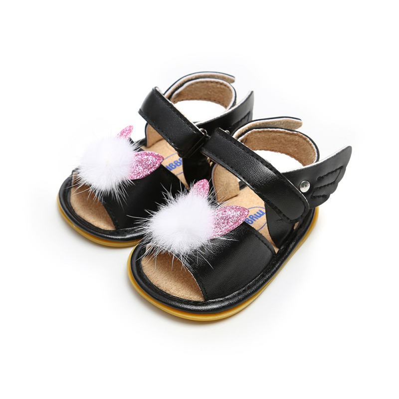 Infant For Newborn Baby Girl Summer Shoes Soft Sole Hair Ball Princess Shoes
